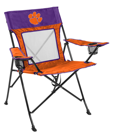 NCAA Clemson Tigers Game Changer chair with the team logo