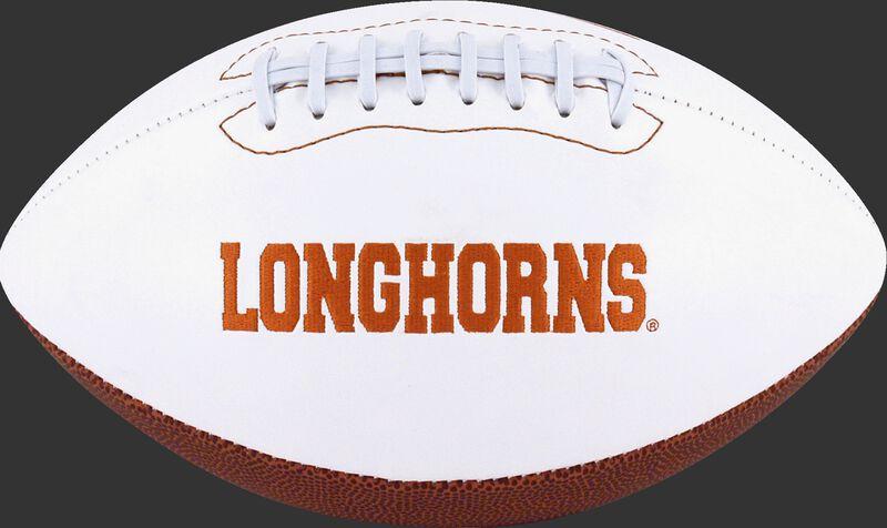 White NCAA Texas Longhorns Football With Team Name SKU #05733103121
