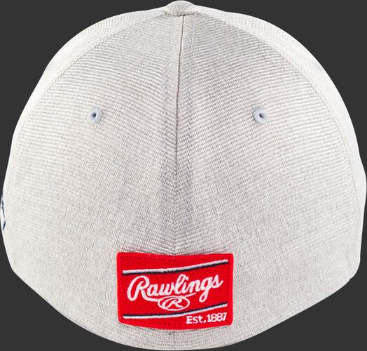 Back View Of Rawlings Light Gray Black Clover Special Edition All Star Fitted Hat - SKU #RBCAS