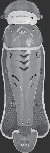 Silver SBLGVEL Velo adult softball leg guards