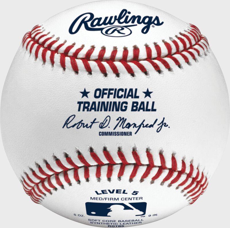 A Rawlings official league level 5 training baseball - SKU: ROTB5