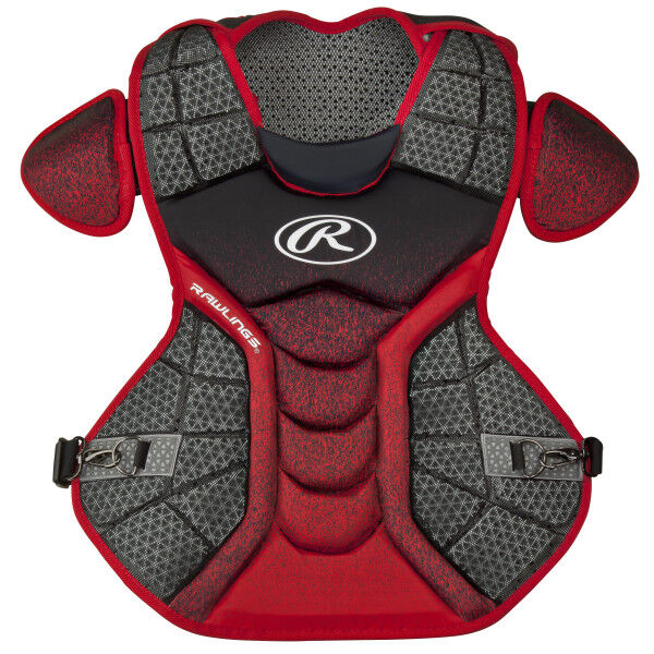 Velo Adult Chest Protector Black/Scarlet