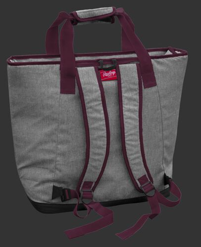 Back of a Texas A&M Aggies tote cooler with backpack straps - SKU: 10323061111
