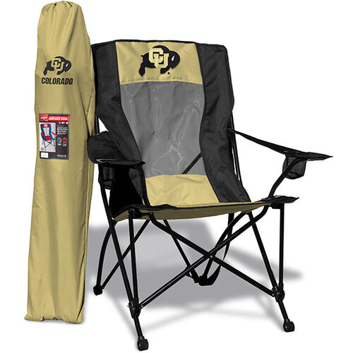 Front of Rawlings Gold and Black NCAA Colorado Buffaloes High Back Chair With Team Logo SKU #09403071518