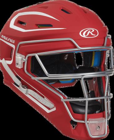 Mach Adult 2-Tone Hockey Style Catchers Helmet
