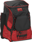Front right of a scarlet/black R600 Rawlings backpack without bats image number null