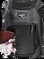 Wallet, keys, and batting gloves in the front valuables pocket of a black Franchise baseball bag - SKU: FRANBP-B image number null