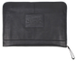 A black rugged portfolio with a leather Rawlings patch logo in the middle - SKU: V614-001 image number null