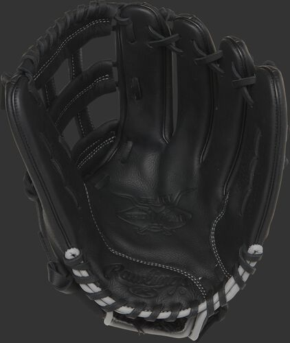 SPL120AJBB Rawlings youth Aaron Judge glove with a black palm and black laces