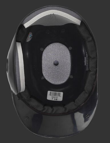 Inside padding of a black MPBHSL right-handed batter single flap batting helmet
