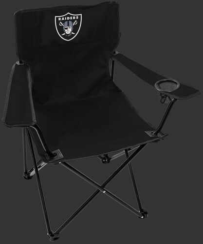 Front of Rawlings Black NFL Oakland Raiders Gameday Elite Chair With Team Logo SKU #00551072111