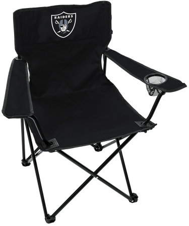 NFL Oakland Raiders Gameday Elite Chair with team colors and logo on the back