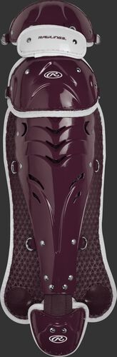 Maroon SBLGVEL Velo adult softball leg guards
