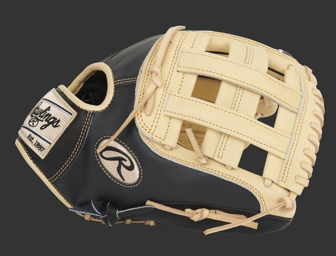 Thumb of an exclusive Heart of the Hide 12-Inch infield glove with a camel H-web - SKU: PRO206-6CBSS