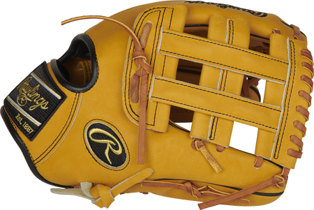 Thumb of a butterscotch PRO206-6BU Heart of the Hide 12-Inch infield glove with a butterscotch H-web