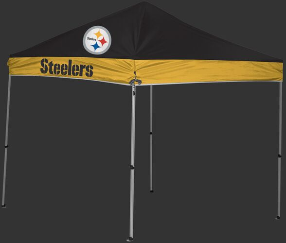 Rawlings Black and Gold NFL Pittsburgh Steelers 9x9 Canopy Shelter With Team Logo and Name SKU #03231082111