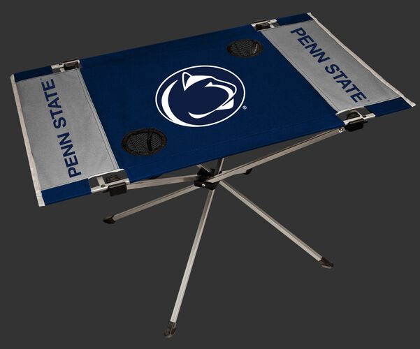 NCAA Penn State Nittany Lions Endzone table featuring team colors, team logos and two cup holders SKU #04053050111