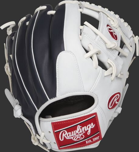 GXLE204-2NW 11.5-inch Gamer XLE infield glove with a navy/white back