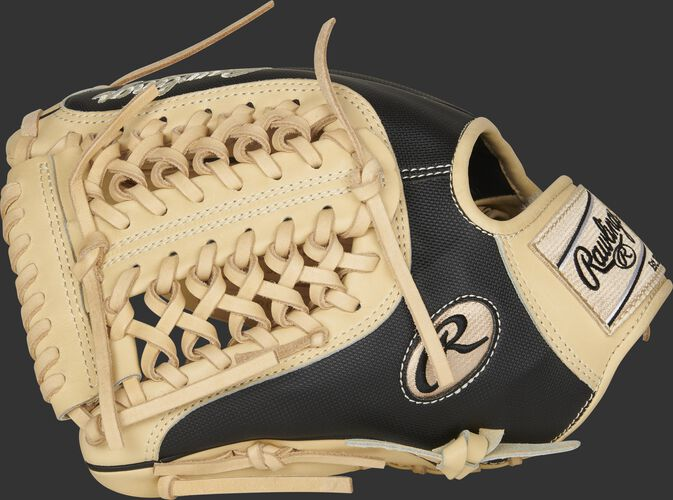 Thumb of a LH throw 2021 Pro Preferred 11.75-Inch Speed Shell glove with a camel Modified Trap-Eze web - SKU: PROS205-4CSS-RH