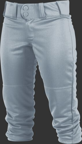 Front of Rawlings Blue Gray Girls' Low-Rise Softball Pant - SKU #WRB150G
