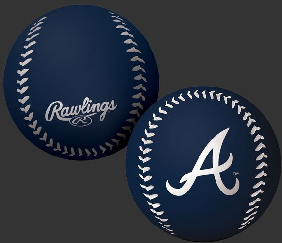 Rawlings Atlanta Braves Big Fly Rubber Bounce Ball With Team Logo on Front In Team Colors SKU #02870005112