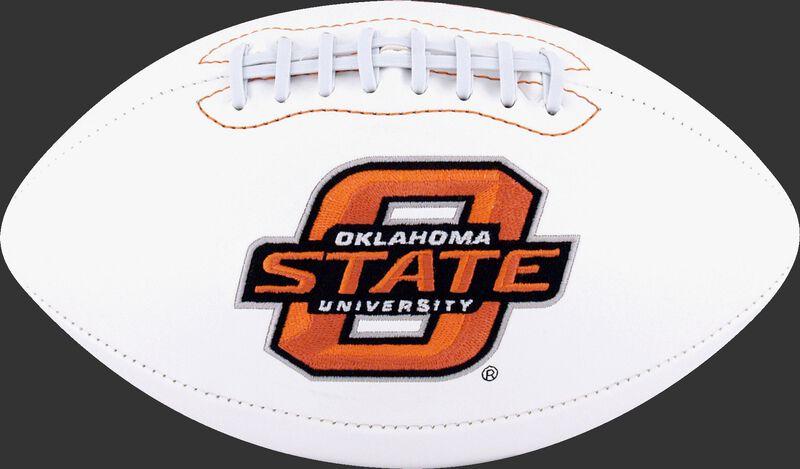 White NCAA Oklahoma State Cowboys Football With Team Logo SKU #05733044121