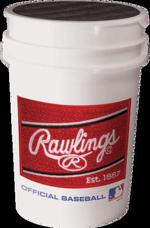 RSXBUCK30 Rawlings practice baseball bucket with padded lid