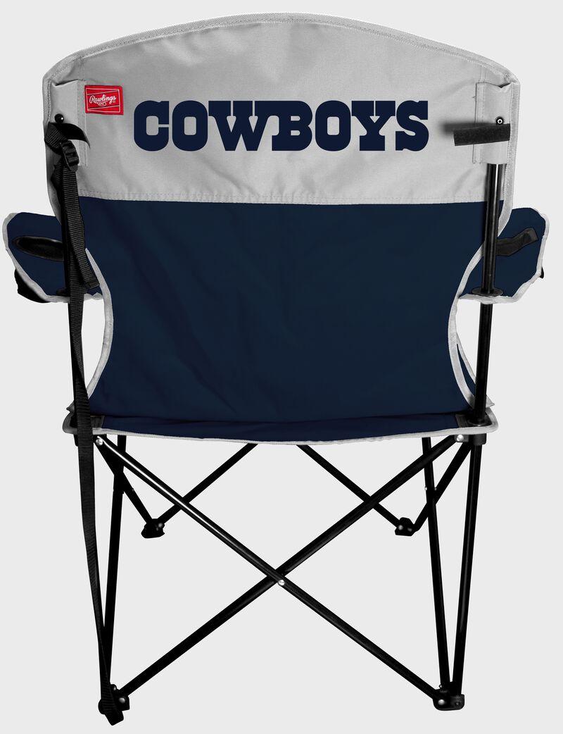 Back of a Dallas Cowboys lineman chair