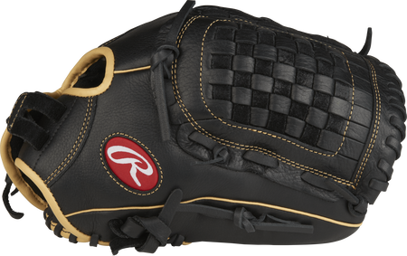 RSO125BCCF Shut Out 12.5-inch outfield/pitcher glove with a black thumb and black Basket web