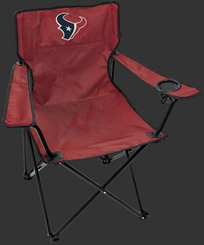 Front of Rawlings Red NFL Houston Texans Gameday Elite Chair With Team Logo SKU #00551093111