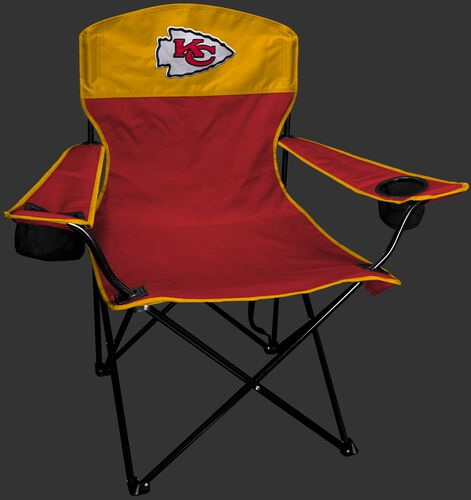 Front of Rawlings Red and Yellow NFL Kansas City Chiefs Lineman Chair With Team Logo SKU #31021071111