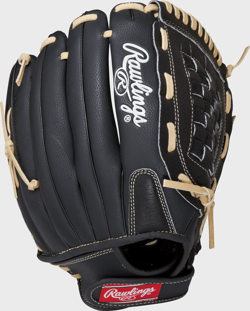 RSS130C 13-inch RSB recreational outfield glove with a black back and Velcro wrist strap