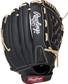 RSS130C 13-inch RSB recreational outfield glove with a black back and Velcro wrist strap image number null