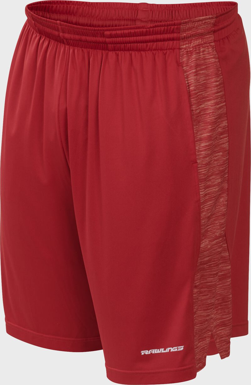 Front of Rawlings Scarlet Adult Launch Training Shorts - SKU #LS9