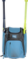 Front of a Columbia blue Rawlings Franchise baseball backpack with two bats in the side sleeves - SKU: FRANBP-CB image number null