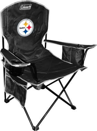 Front of Rawlings Black NFL Pittsburgh Steelers Chair With Team Logo SKU #02771082111