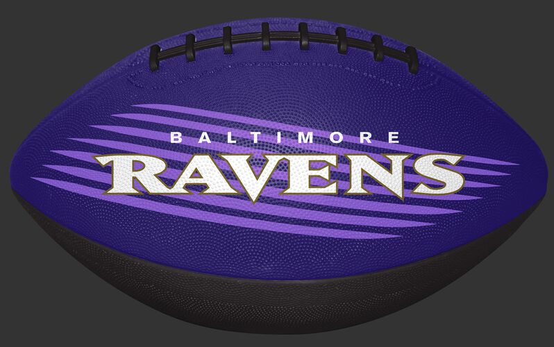 Purple and Black NFL Baltimore Ravens Downfield Youth Football With Team Name SKU #07731092121