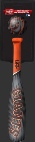 Rawlings San Francisco Giants Softee Mini Bat and Ball Set in Team Colors With Team Name and Logo On Front SKU #01160013114