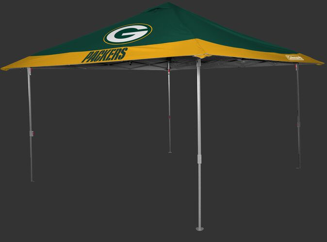 Rawlings Green and Yellow NFL Green Bay Packers 10x10 Eaved Canopy With Team Logo and Name SKU #07561068111