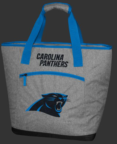 A Carolina Panthers 30 can tote cooler with an embroidered team logo on the front - SKU: 10311090111