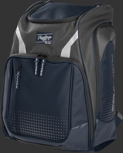 Front angle view of a navy Legion equipment backpack - LEGION-N
