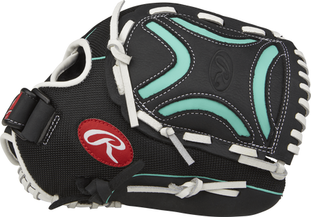 CL115BMT Champion Lite 11.5-inch infield glove with a black thumb and black/mint Decorative X web