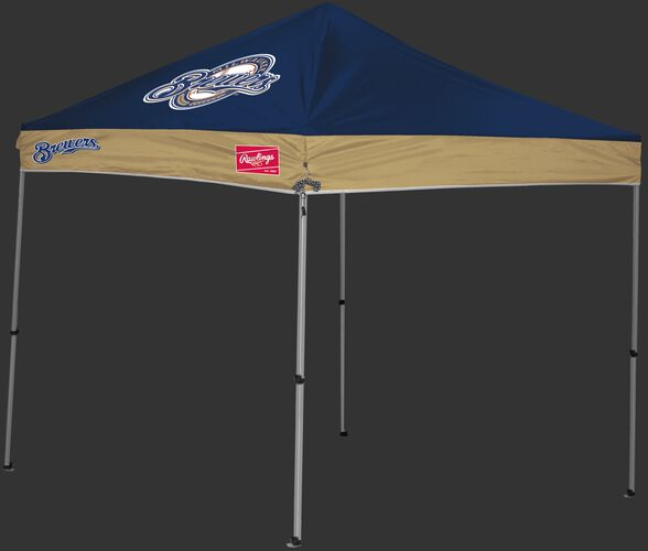 Rawlings Gold and Navy MLB Milwaukee Brewers 9x9 Canopy Shelter With Team Logo and Name SKU #06250006111