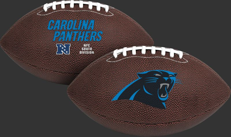 NFL Carolina Panthers Air-It-Out youth football with team logo and team name SKU #08041090121