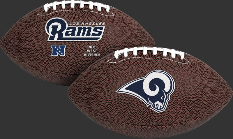 NFL Los Angeles Rams Air-It-Out youth football with team name and logo SKU #08041073121