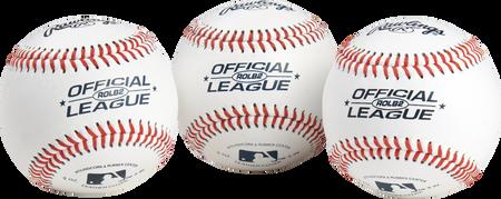 Official League Practice Baseballs | 3 pack