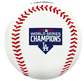 A Los Angeles Dodgers World Series Champions logo stamped on a replica baseball - SKU: 35010032282 image number null