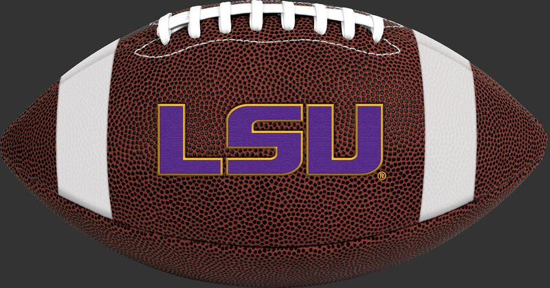 Brown NCAA LSU Tigers Football With Team Logo SKU #04623035811