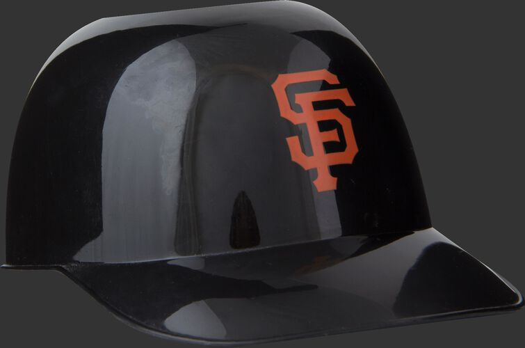 Front of Rawlings Black MLB San Francisco Giants Snack Size Helmets With Team Logo SKU #01950013121