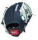 Back of a navy/white Seattle Mariners 10-inch I-web glove with a red Rawlings patch - SKU: 22000015111 image number null